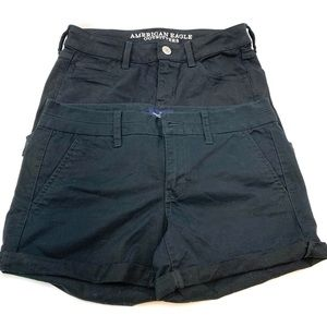 Two pairs of American Eagle Midi shorts